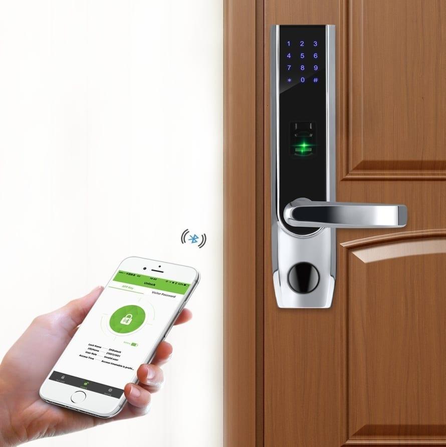 Keyless Bluetooth Locks Biometric Fingerprint Door Lock Keypad Code