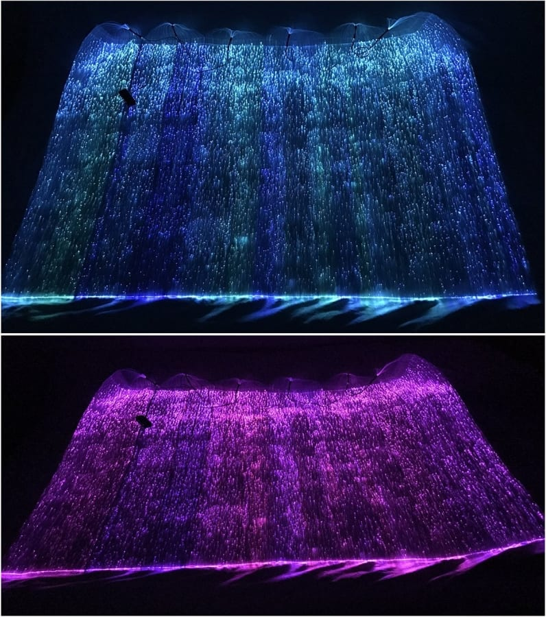 Rgb Led Light Up Fiber Optic Fabric Material To Make Luminous