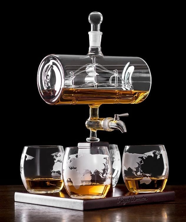 sailing ship whiskey decanter. Black Bedroom Furniture Sets. Home Design Ideas