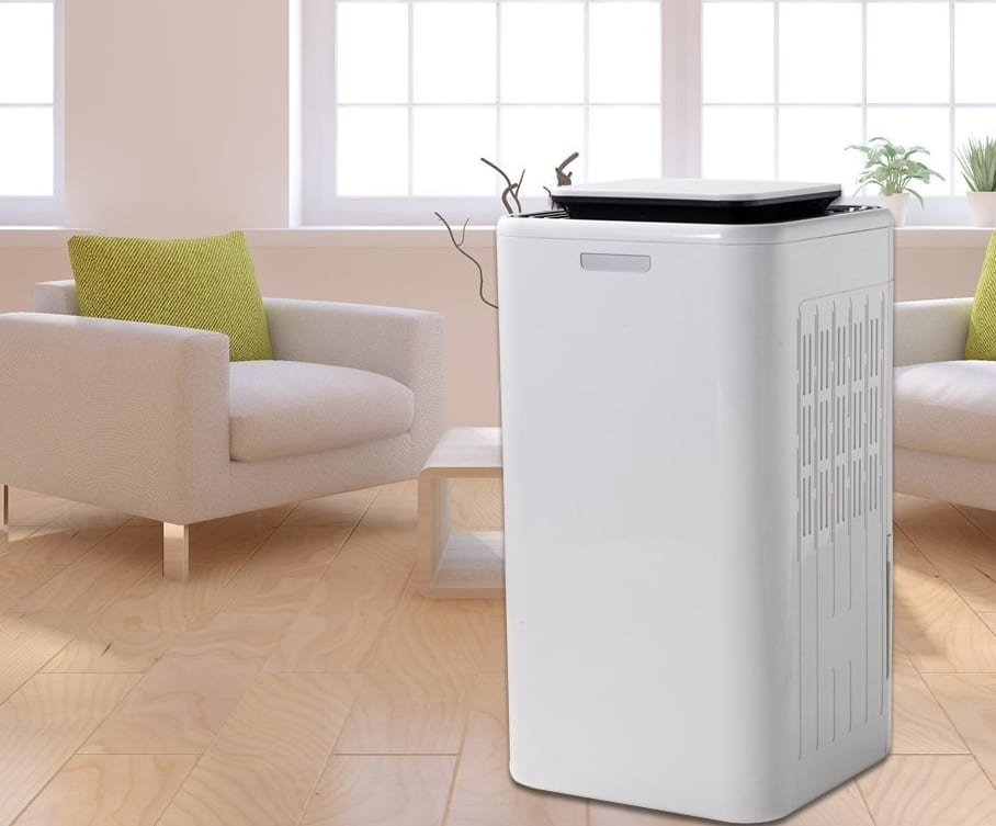 Smart touch screen small dehumidifier with air purify big water tank - Small space dehumidifier bags set ...