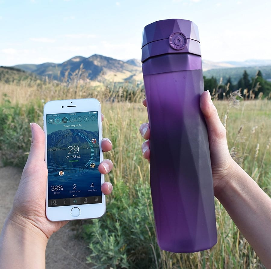 Hidrate Spark 20 Smart Water Bottle Tracks Water Intake Glows
