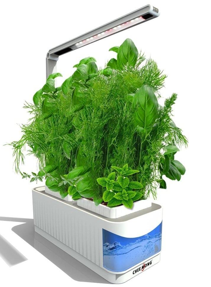 indoor hydroponic herb garden kit lamp 7 gadgets. Black Bedroom Furniture Sets. Home Design Ideas