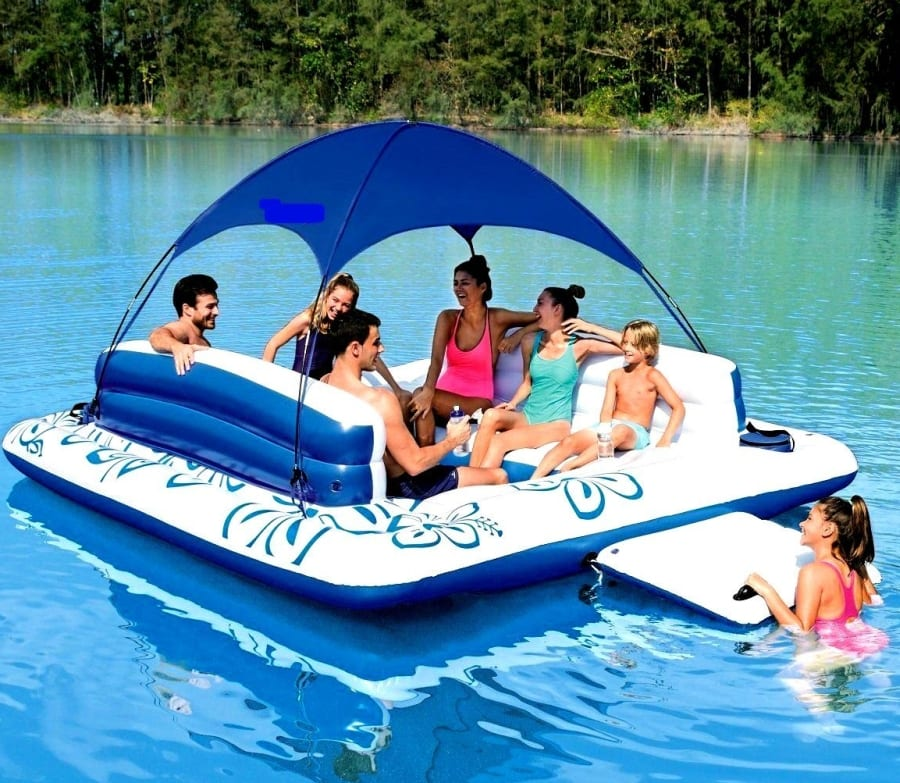 Chair Water Lounger Inflatable Lake Large Floating Island