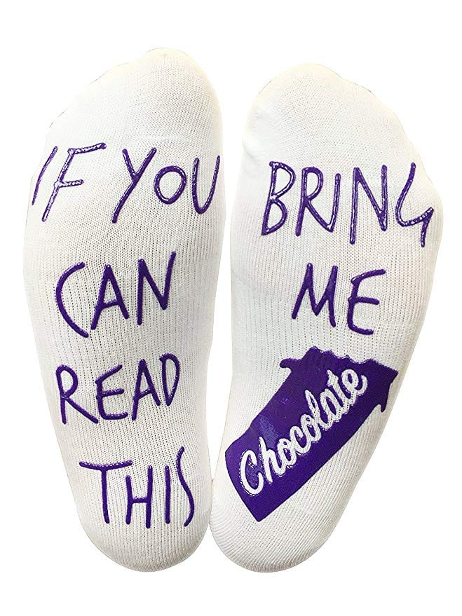 If You Can Read This Bring Me Chocolate Funny Socks 7