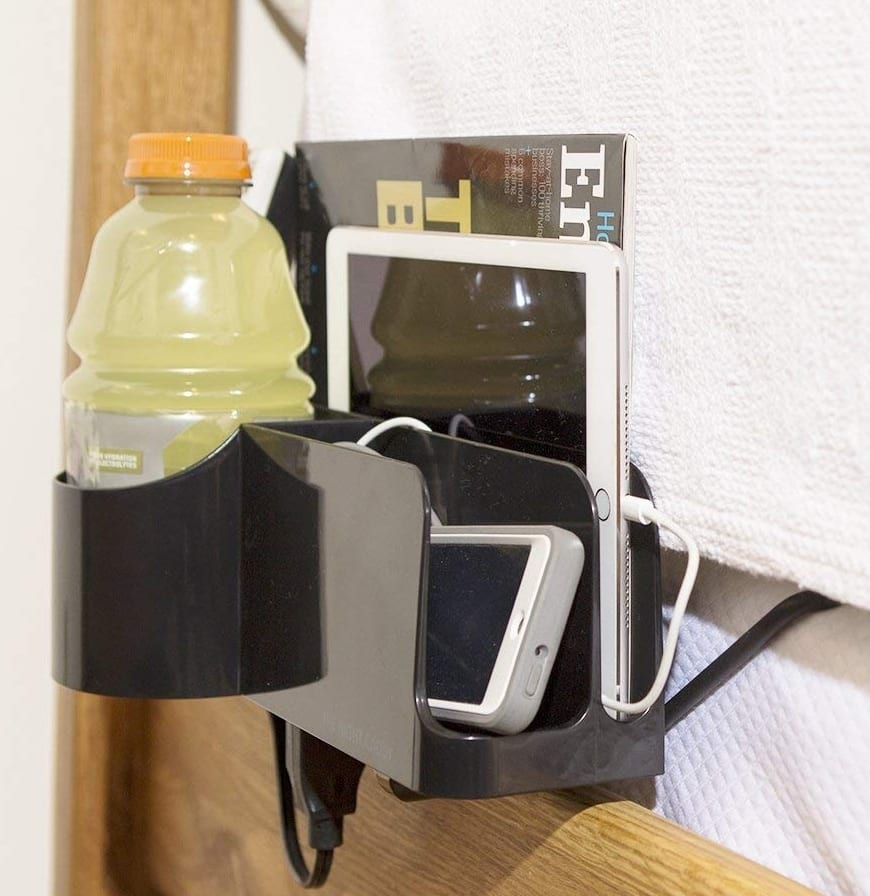Night Caddy Deluxe Bedside Organizer 7 Gadgets