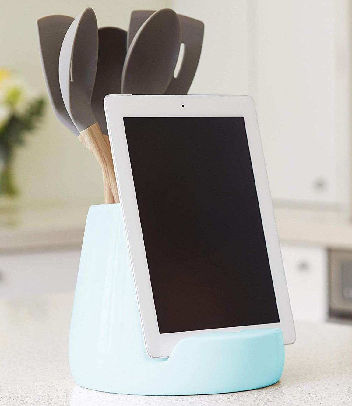 Awesome Ceramic Kitchen Ipad Stand And Utensil Holder 7 Gadgets Home Interior And Landscaping Palasignezvosmurscom