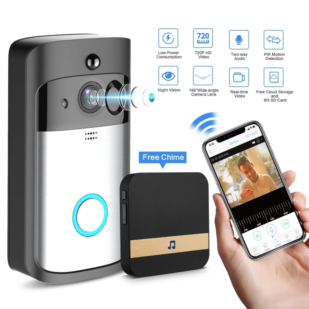 Gjt Smart Video Doorbell Wireless Home Wifi Security