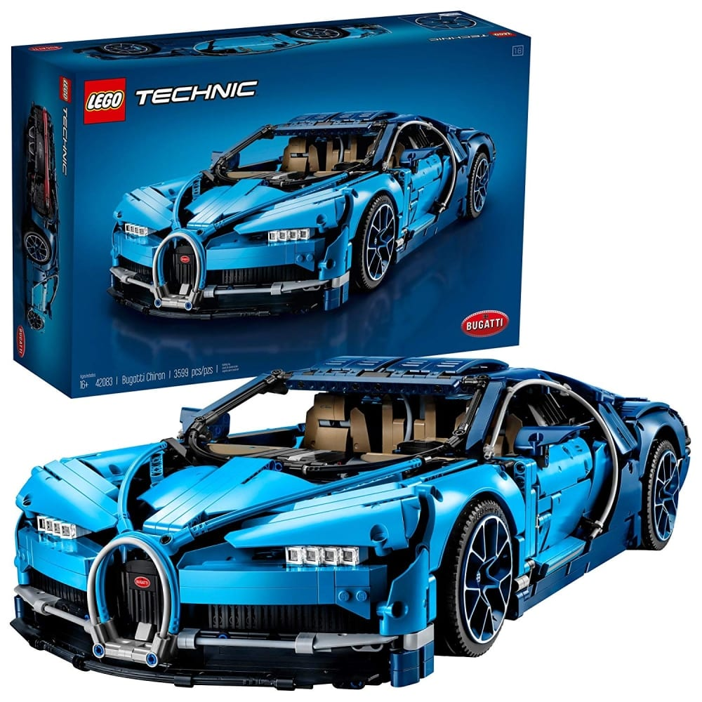 lego technic bugatti chiron 42083 building kit 7 gadgets. Black Bedroom Furniture Sets. Home Design Ideas