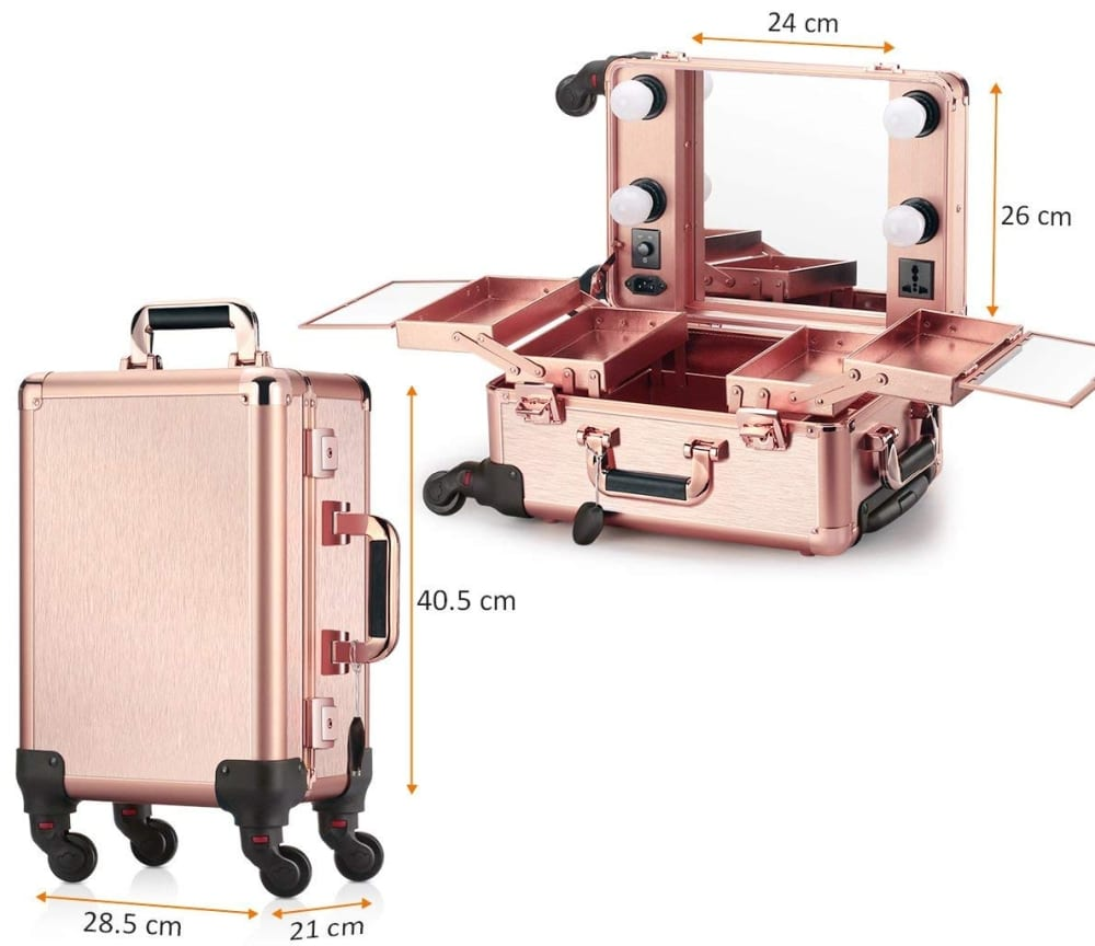 Ovonni Small Led Makeup Train Case 7 Gadgets