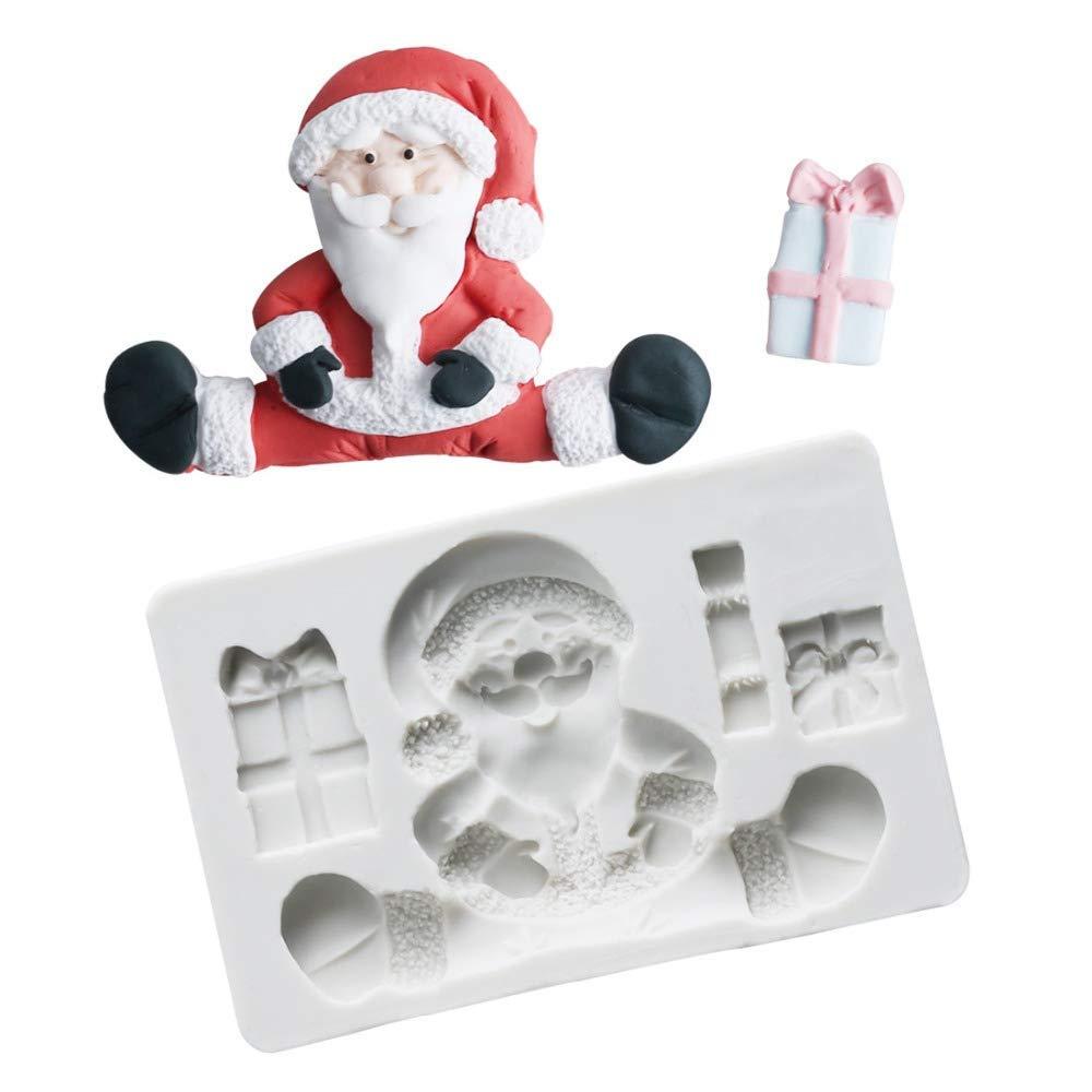 3d Christmas Santa Claus Silicone Fondant Mold 7 Gadgets