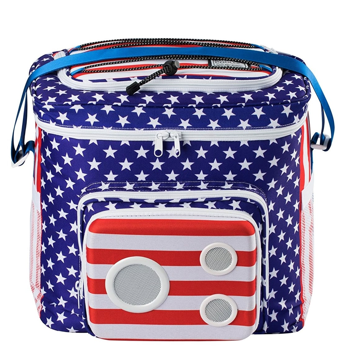 American Flag Cooler With Speakers Amp Subwoofer 7 Gadgets
