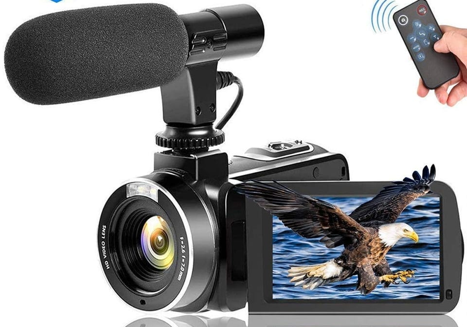 Video Camera Vlogging Camera With Microphonefull Hd 1080p
