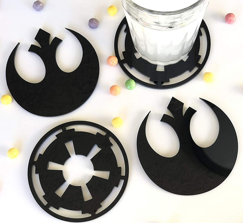 Hand Made Star Wars Acrylic Coasters 7 Gadgets