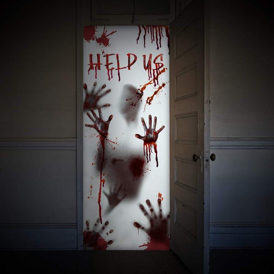 Halloween Window Door Cover