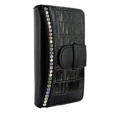 iPhone 5 / 5S Piel Frama Black Swarovski Crocodile Leather Wallet