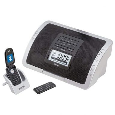 Clock Radio Speaker System for Cell Phones