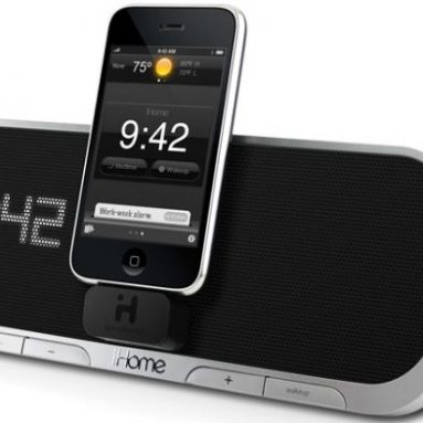 App-Enhanced Alarm Clock Speaker System for iPhone and iPod