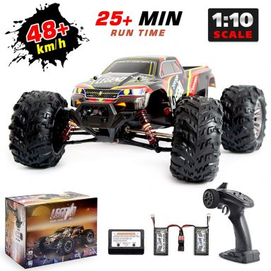 1:10 Scale Large Remote Control Car 48km/h+ Speed | Boys 4×4 Off Road Monster Truck Electric RC Cars