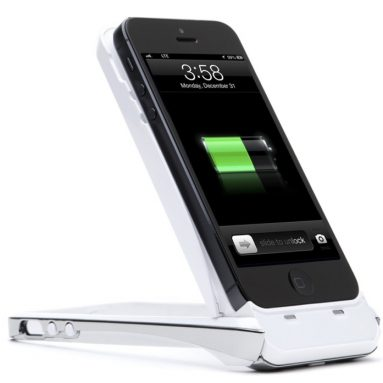 PowerStand iPhone 5S,5 Rechargeable Extended Battery Kickstand Case