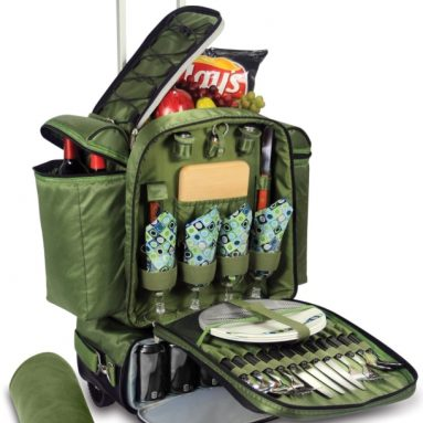 Picnic Time Excursion Deluxe Cooler on Wheels