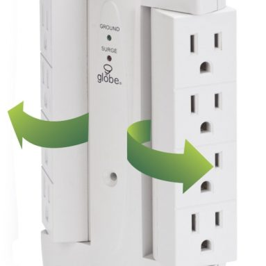 8-Outlet Swivel Surge Tap with LED Indicator Lights