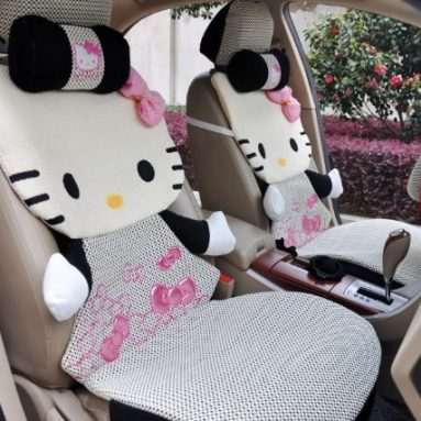 Hello Kitty Auto Car Plush Cover Cushion Set