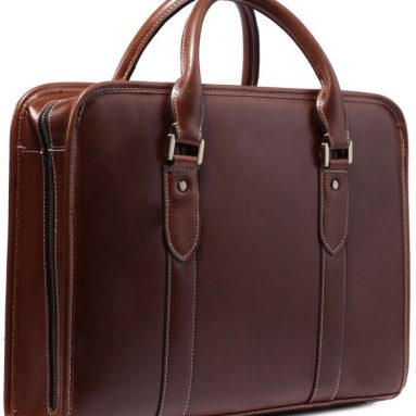 Real Cow Leather Men's Business Messenger Briefcase