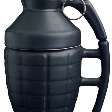 Ceramic Grenade Mug with Lid