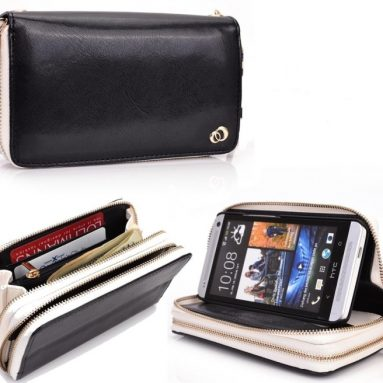 Woman's Wristlet Built-in Stand Wallet