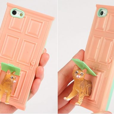 Pet Door and Stand Sneak Out iPhone 5 Case