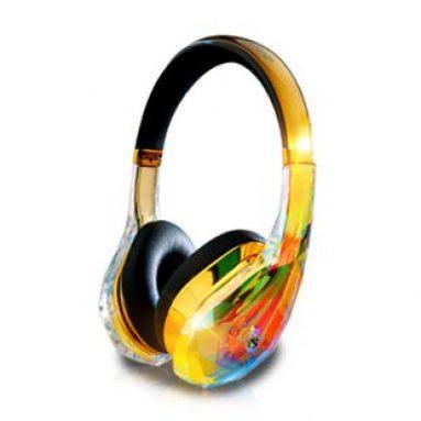 Gold Diamond Tears Edge On-Ear Headphones