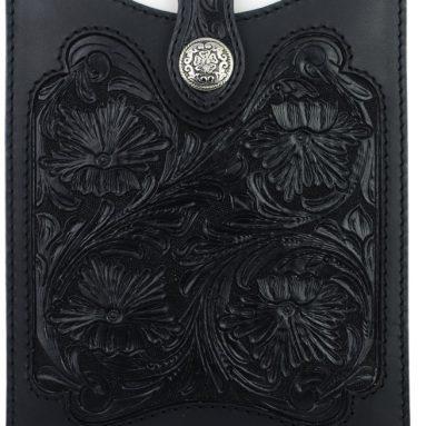 Black Leather iPad Sleeve Case – Fits iPad 2, 3, and 4