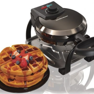 Ice Metal Collection Belgian Style Flip Waffle Maker