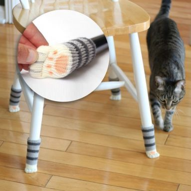 16 Chair Socks with Cat Paw Design