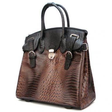 Alligator Crocodile Rolling Laptop Bag