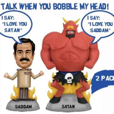 Saddam and Satan Talking Bobble Head Toy