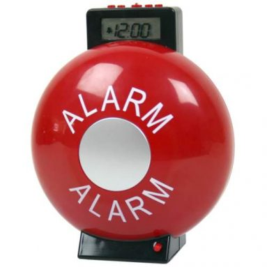 Fire Bell Alarm Clock