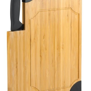 Bamboo Cutting Board with Carving Knife