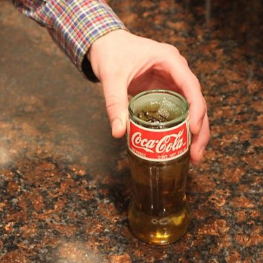 Coca-Cola Recycled Soda Pop Bottle Glass