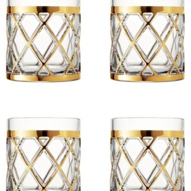18K Gold Old Fashioned Glasses