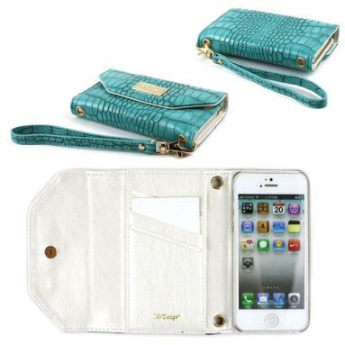 Turquoise Wallet Case for the Apple iPhone 5S / 5