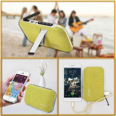 2 in 1 Portable Outdoor Bluetooth Speakers Power Bank Built-in 4000mAh Battery Charger