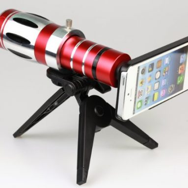20x Optical Zoom Aluminum Telescope Lens Camera Telephoto Lens for Iphone 5 5s