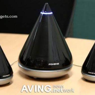 Water-drop shape 2.1-channel PC speaker 'AQUA'
