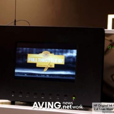 Microwave with TV and DVD playback