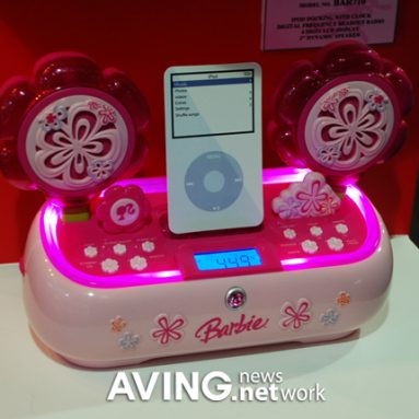 iPod docking system for barbie