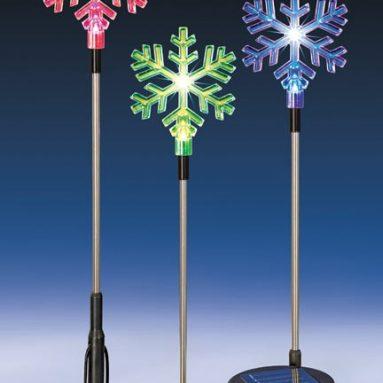 Solar Powered Snowflakes