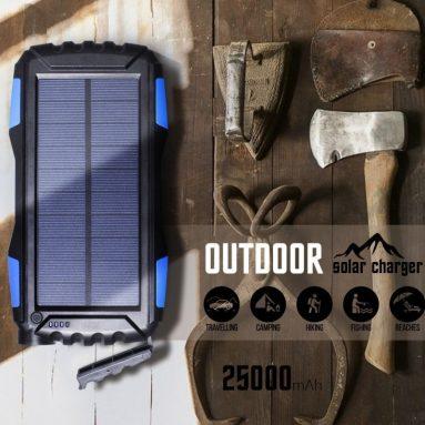 25000mAh Portale Solar Power Bank ShockproofDustproof