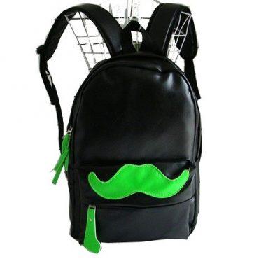 Handlebar Mustache Design Multifunction School Laptop Backpack