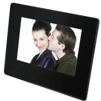 Digital photo frame with NXT flat-panel speaker